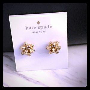 Kate Spade Gold Crystal Bow Earrings